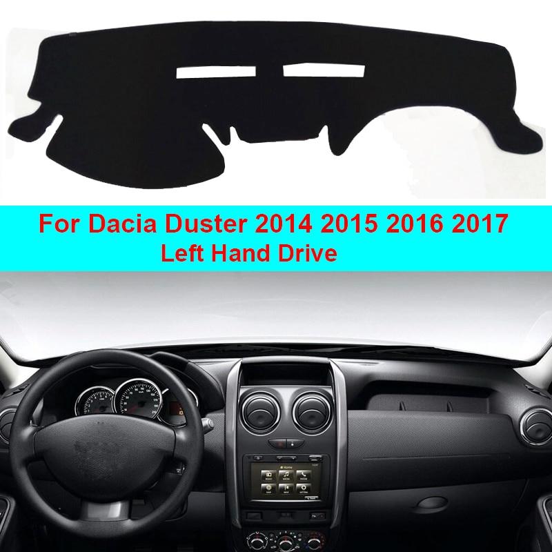 2 Layers Car Dashboard Cover Carpet Cape For Dacia Duster 2014 2015 2016 2017 LHD Sun Shade Pad Carpet Dashmat Sun Shade Pad