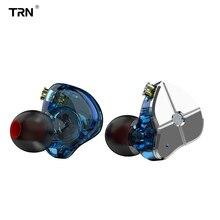 TRN ST1 In-ear Earphones Monitors 1DD+1BA Hybrid Hifi Earphone Stereo Headset Noise Cancelling Wired Earbuds 100% original uiisii hi 905 1dd 1ba hybrid technology earphone super bass stereo music hifi with mic 3 5mm headset for iphone pc