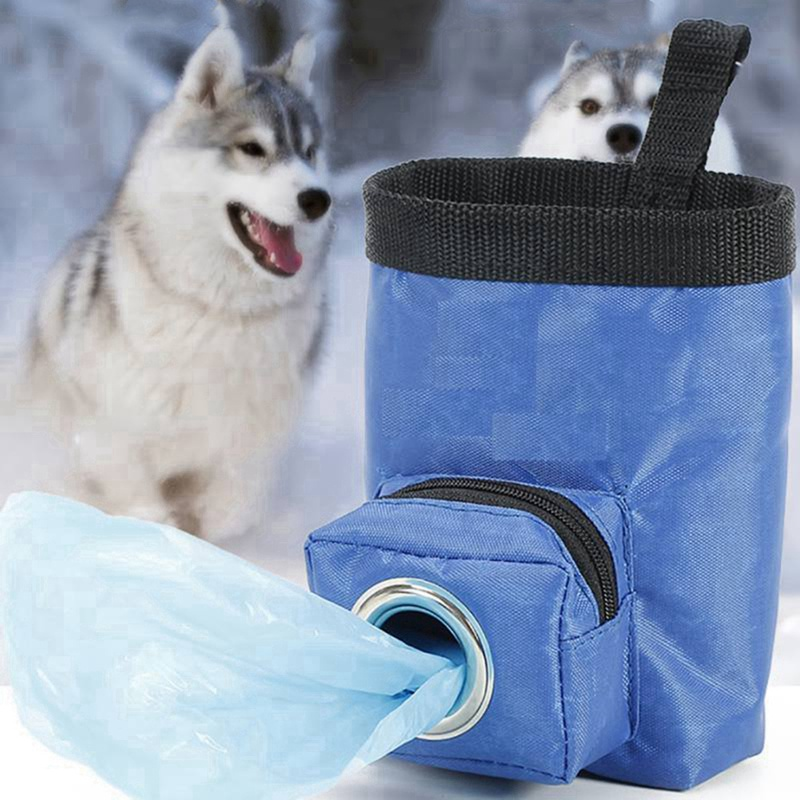 Dog Training Treat Bags Snack Bag Pet Feed Pocket Pouch Puppy Snack Reward Waist Bag With Waste Bag Hole Pet Supplies