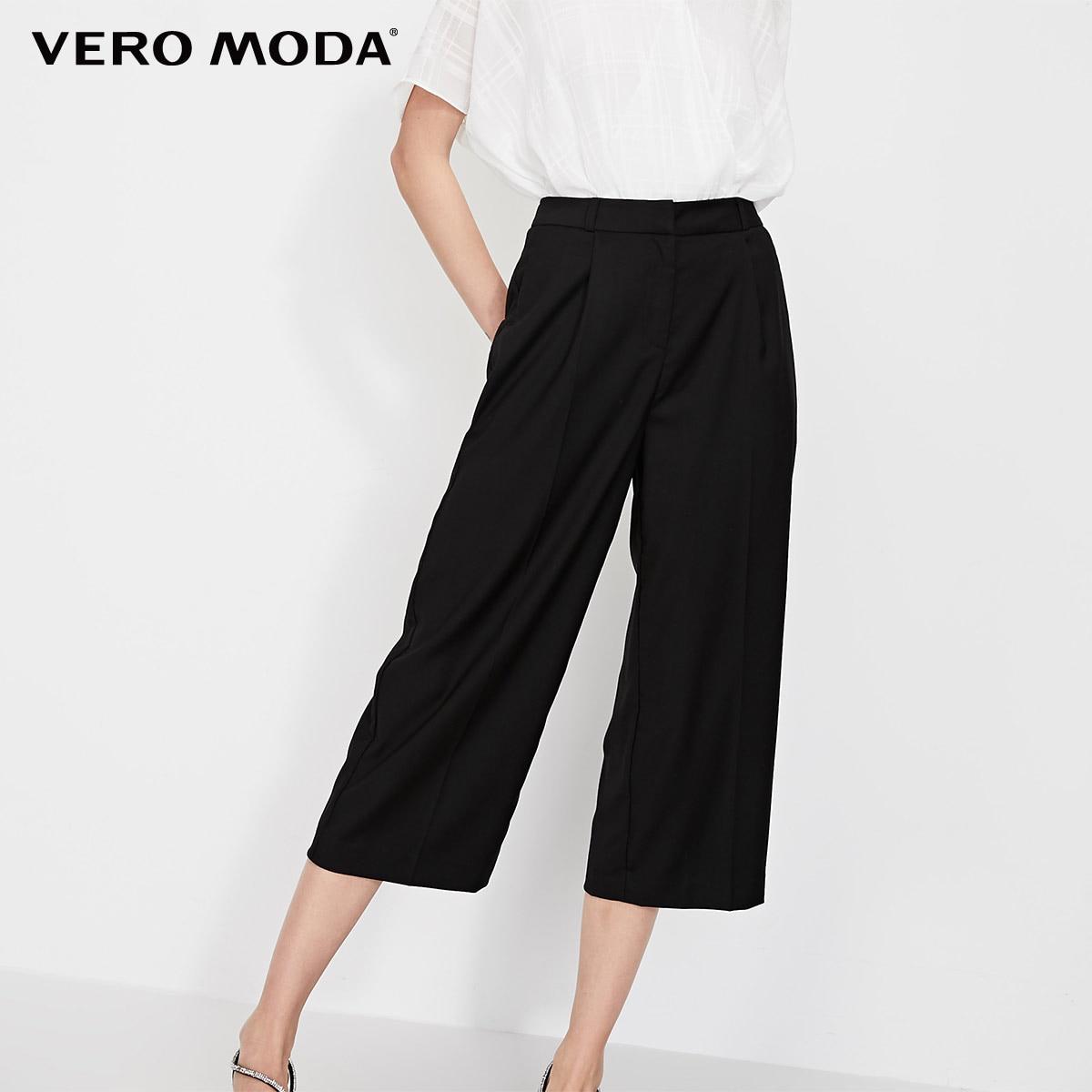 Vero Moda Women's OL Straight Fit Mid-rise Capri Pants   31916J531