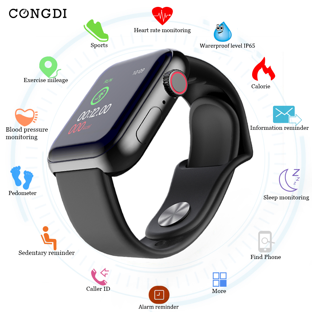 D28 Smart Watches Waterproof Sports Fitness Bracelet Sleep Tracker Heart Rate Monitor Blood Pressure Smart Band For Women Men