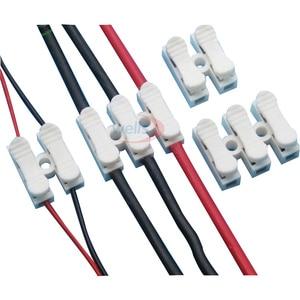 100 шт. 2pin/3pin пружина без сварки без шурупов быстрый соединитель провода кабельный зажим клеммный блок 2/3 способ для светодиодной ленты