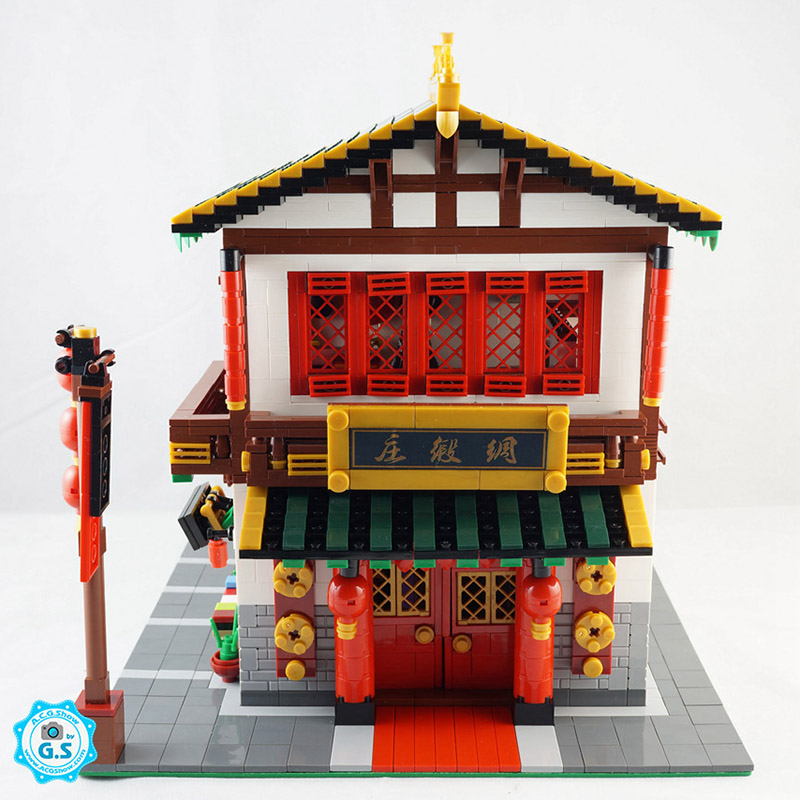2787Pcs XINGBAO Building Blocks XB-01001 Creator China Town Series Silk Zhuang Traditional Chinese architecture Bricks Toys 1