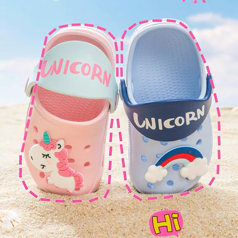Baby Girls Cartoon Unicorn Toddler Beach Water Garden Slippers Kids Boys Summer Sandals Children Flip Flops Indoor Cute Sandals