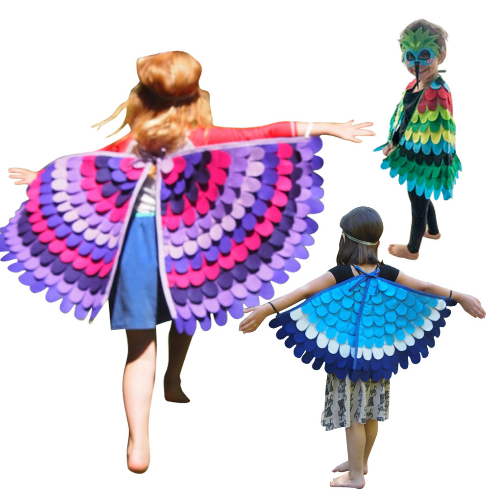 Carnival Costume Kids Birds Boys Costume For Kids Animal Wings With Masks Child Costume Halloween Child Cosplay Costume Set