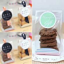 Food Grade Dessert Package Storage 100PCS/Bag Party Pastry Festival Covers Cake Cookie Box Portable Scrub Translucent Xmas