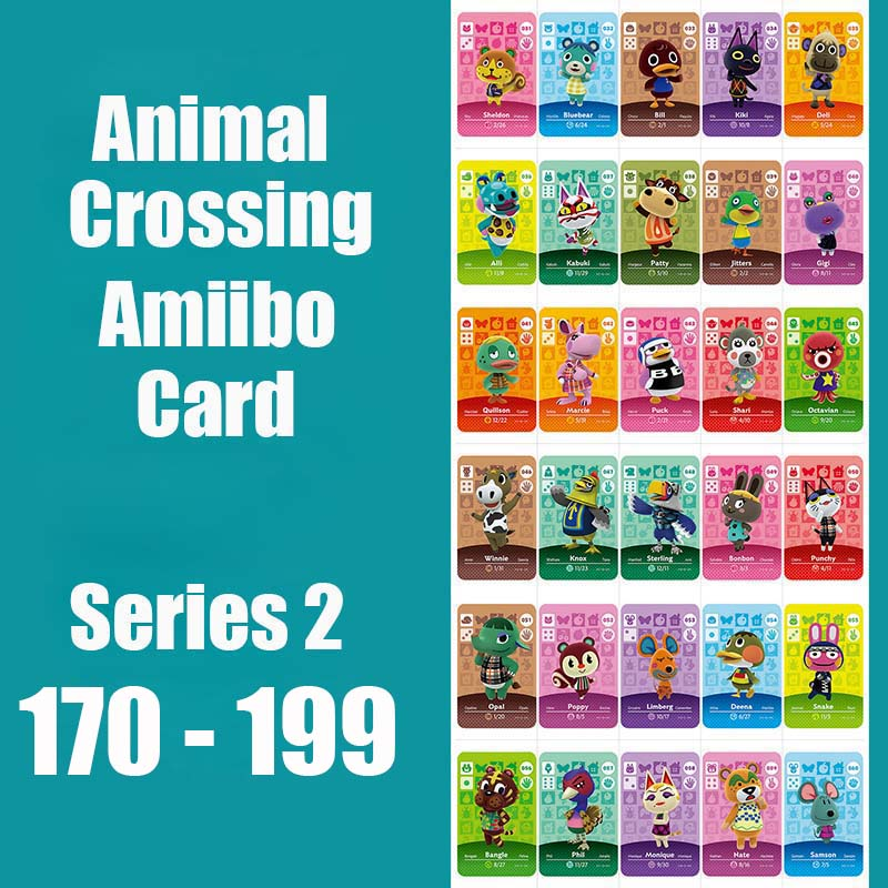 Series 2 (170 To 199) Animal Crossing Card Amiibo Locks Nfc Card Work For Switch NS Games Series 2 (170 To 199)