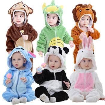 Baby Boy Girls Animal Cosplay pajacyki maluch karnawał kostiumy na halloween chłopcy Panda kostium dla dziewczynek kombinezony odzież dla niemowląt tanie i dobre opinie sumioon COTTON Poliester Cartoon Z kapturem zipper Unisex Pełna Baby Rompers Pasuje prawda na wymiar weź swój normalny rozmiar