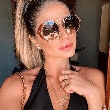 Vintage Alloy Punk Flip Sunglasses for Women 2020 Retro Circle Frame Sun Glasses