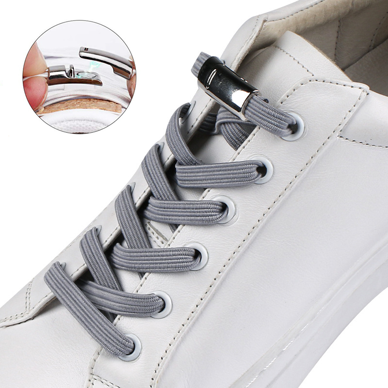 1Pair Fashion Magnetic Shoelaces Elastic No Tie Shoe Laces Kids Adult Unisex Flat Sneakers Shoelace Quick Lazy Laces Strings