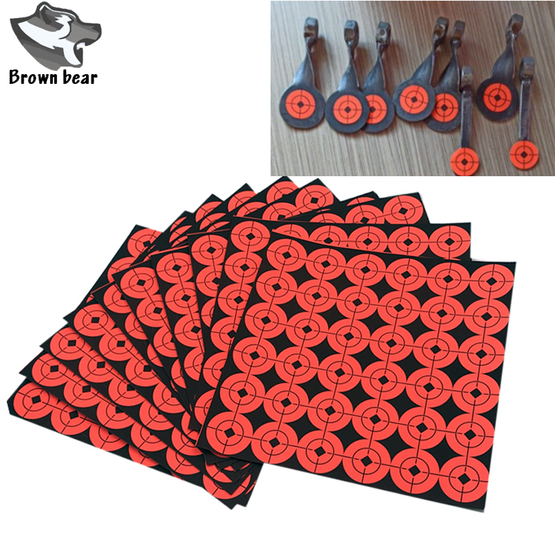 2.5cm Diameter 360 Stickers Self  Adhesive Paper Target Stickers Paper Targets  For Hunting Archery Arrow Shooting Accessories