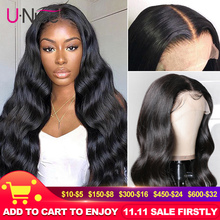 Unice Hair 13*4 Lace Front Human Hair Wig Pre Plucked With Baby Hair Brazilian Remy Body Wave Wig 360 lace Natural wig