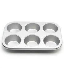 6-Cup Muffin Baking Pan Cake Bread Mold Cupcake Pan High-carbon Steel Non-Stick Bakeware Mould Kitchen Tools 6 12 holes square cupcake pan muffin tray cupcake mold muffin pan carbon steel baking pan non stick bakeware biscuit pan zxh
