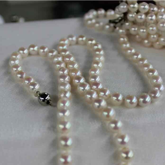 Biżuteria naszyjnik z pereł naturalne perły China Southern naszyjnik 8-9mm classics 925 srebrna zapinka 100 cal darmowa wysyłka