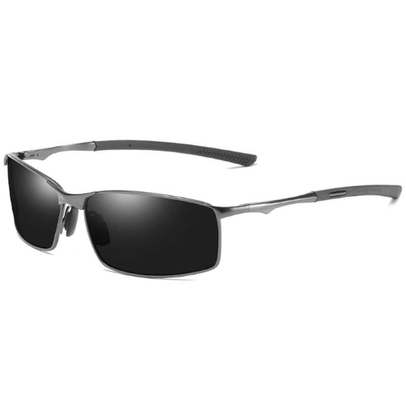 Marca Óculos Polarizados Para Homens Condução Óculos de Sol Clássicos Homens de Metal Quadrado Masculino UV400 Sunglass Shades gafas de sol hombre