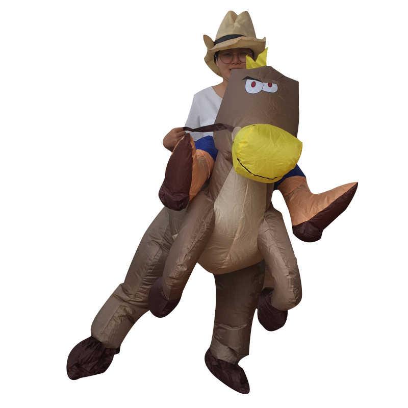 Надувные костюмы динозавров для детей; маскарадный костюм для девочек и мальчиков с единорогом, ковбойским Пикачу, покемоном, T-Rex; костюм Пурима на Хэллоуин
