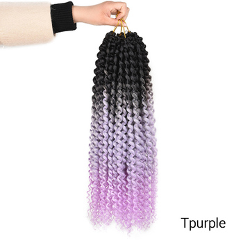 TOMO Passion Twist Crochet Hair Synthetic Braiding Hair Extensions 14 18 22Inch 22Strands Spring Twist 80g/Pack Long Black Brown 15