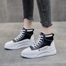 Женские кожаные ботинки на платформе 4 см Белые Повседневные