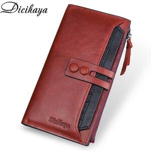Image 3 - Dicihayaブランド財布女性レザーの女性の財布高品質の女性のクラッチ財布ロング女性の財布carteira feminina