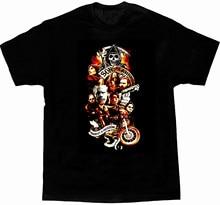 Fils de L'anarchie Série Personnages T-Shirt homme Noir Coton Eté Manches Courtes O-cou T-Shirt Unisexe Nouveau S-3XL