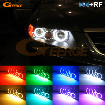 Excellent RF remote Bluetooth APP Multi-Color Ultra bright RGB LED Angel Eyes kit For ACURA TSX 2003 2004 2005 2006 2007 2008
