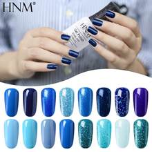 HNM 8ML Blauwe Kleur Serie Gel Nagellak Hybrid Verf Lucky Vernissen Vernis Gel UV Polish Set Semi Permanente manicure Lak(China)