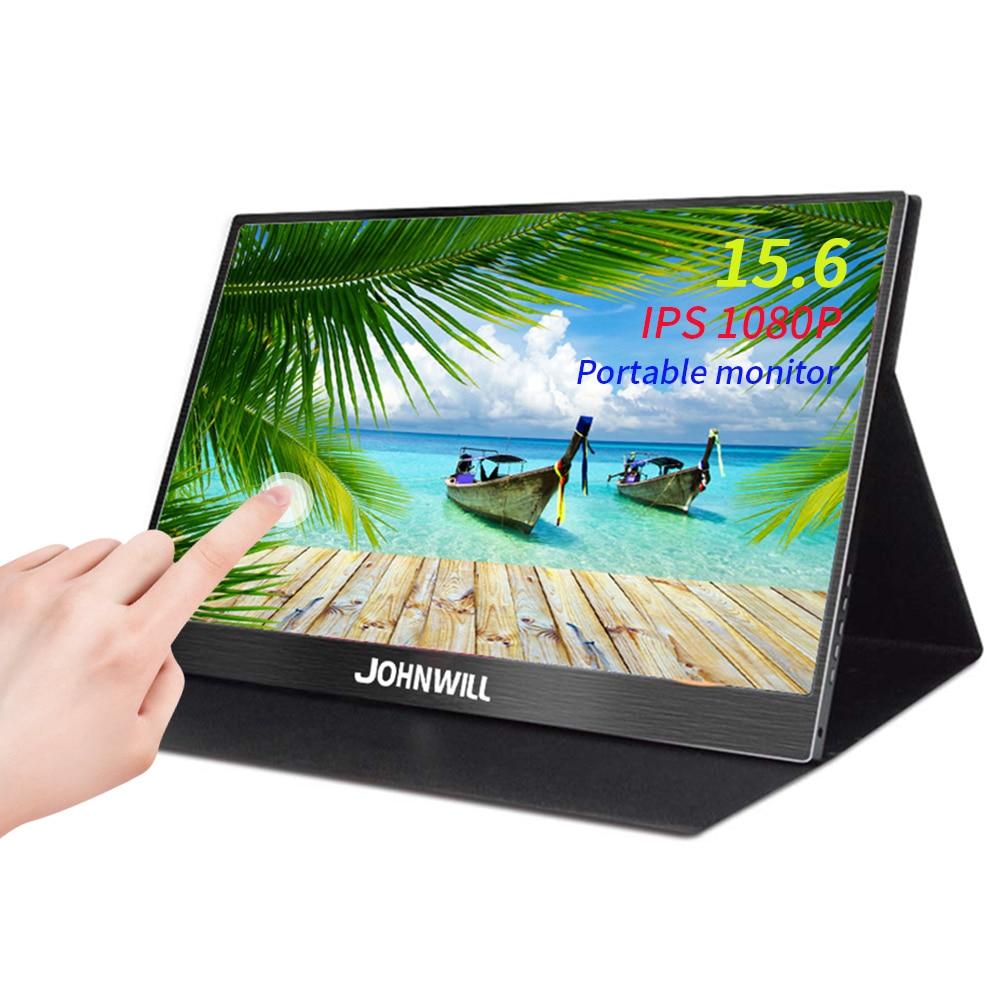 15,6 портативный монитор сенсорный экран 1080P HD дисплей Тип C игровой монитор 13,3 HDMI VGA ПК монитор для PS4 ноутбука переключатель телефона