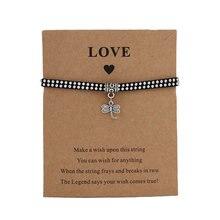 Бесплатная доставка браслеты со стрекозой с изображением пожеланий