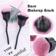 Rose Makeup Brush Women Cosmetic Foundation Creative Style Beauty Tools Face Powder Sythetic Tool