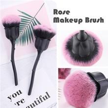 Rose Makeup Brush Women…