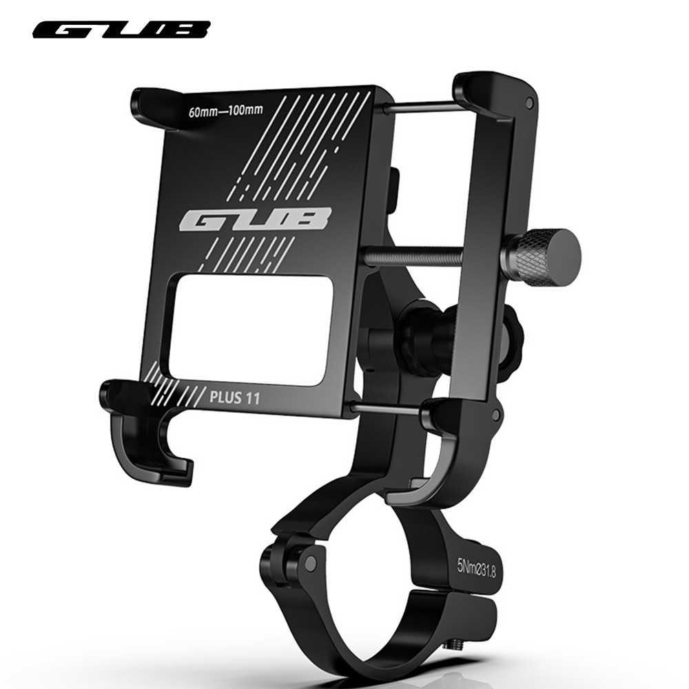Универсальный алюминиевый держатель для телефона GUB Plus, 11 дюймов, на руль, 4-7,5 дюйма