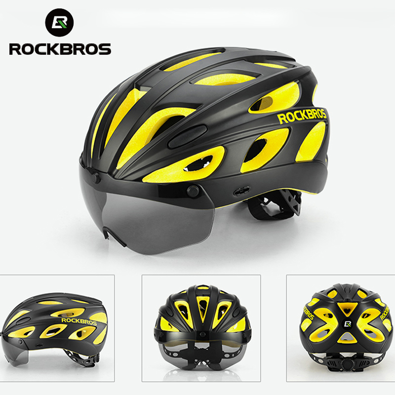 ROCKBROS Cycling-Helmets Mountain-Road-Bike Sunglasses Bicycle Magnetic-Goggles Ultralight title=