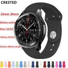 Ремешок Active2 для samsung Galaxy watch Active 2 band 46 мм 42 мм gear S3 Frontier sport 20 мм 22 мм ремешок для часов мягкий браслет correa