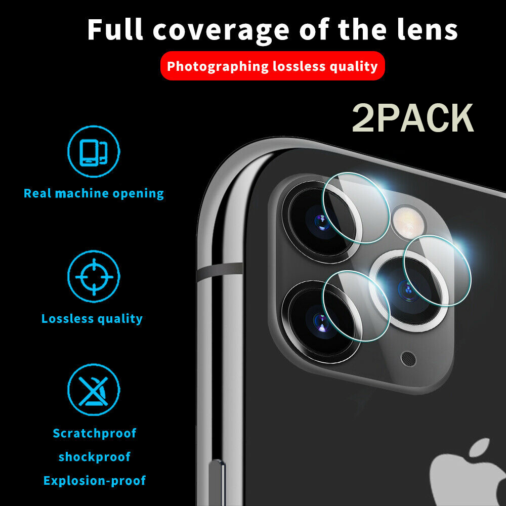 2pcs Back Camera Lens Protection Film For iPhone 11 Pro Max Tempered Glass Protector For iPhone 11 XR XS 7 8Plus Max Glass Film