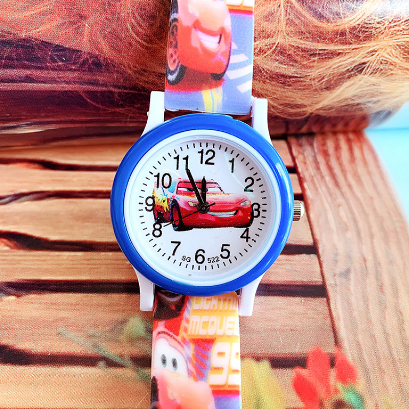 Милые детские часы с мультяшным автомобилем, игрушечные часы, наручные часы для мальчиков, Детские Модные кварцевые часы, силиконовые часы ...