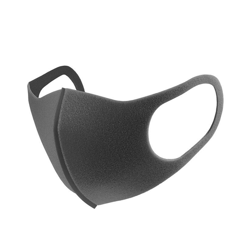 Sederhana 1 Pack 3 Pitta Masker Masker Sederhana Unisex Hitam Riding Tahan Debu Bernapas Masker