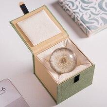 Lens-Ball Globe Crystal Glass Christmas-Love-Gift Home-Decor Real-Dandelion 70mm Resin