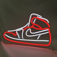 Birthday gift for for boyfriend Shoes Neon Light Led Flex Neon Light Sign Board Display For Store