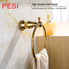 цена Towel Rail Rack Bar Shelf Bathroom Accessories Hardware Set Robe Coat Hook Toilet Paper Tissue Holder Toothbrush Holder,Gold. онлайн в 2017 году
