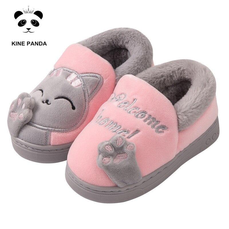 KINE PANDA Children Slippers Winter