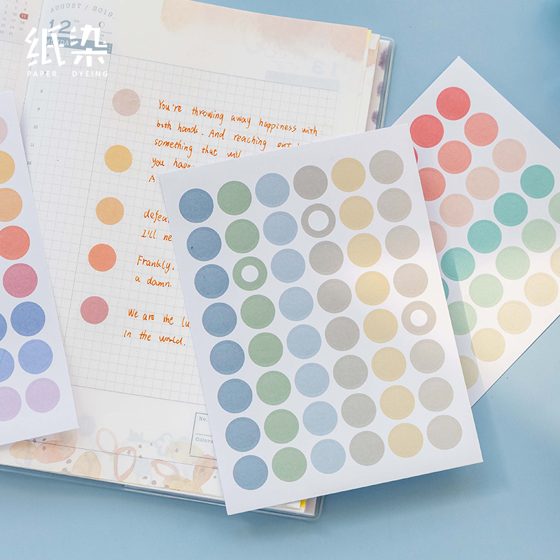 2 Sheets Pearl Series Dot Flat Stickers Basic Material Dots Ins Decorative Stationary Scrapbooking Gift Girl School Supply