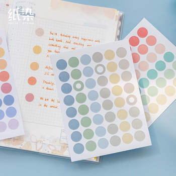 2 Sheets Pearl Series Dot Flat Stickers Basic Material Dots Ins Decorative Stationary Scrapbooking Gift Girl School Supply - discount item  18% OFF Stationery Sticker