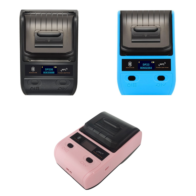 Thermal Printer 58mm Receipt Printer Portable Bluetooth Label Printer 1500MAh for Android and IOS