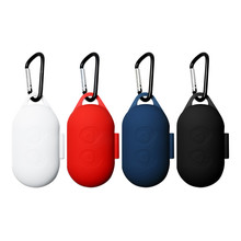Custodia Protettiva in Silicone per Samsung Galaxy Boccioli di Bluetooth di Sport Auricolare Apertura a Conchiglia Anti Shock Copertura Della Cassa con Moschettone