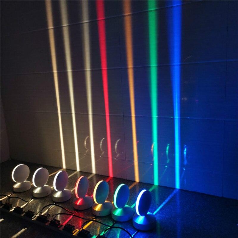 Luz do peitoril da janela led colorido remoto luz do corredor 360 graus ray moldura da porta linha lâmpadas de parede para a família da barra do corredor do hotel