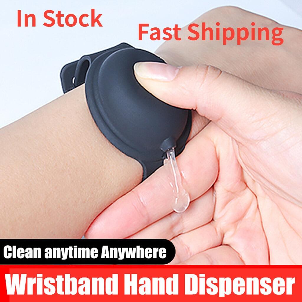 Многоразовые браслеты, дезинфицирующее средство для рук, Дозирующий портативный браслет, диспенсер для рук на запястье 10 мл, поддержка дроп...