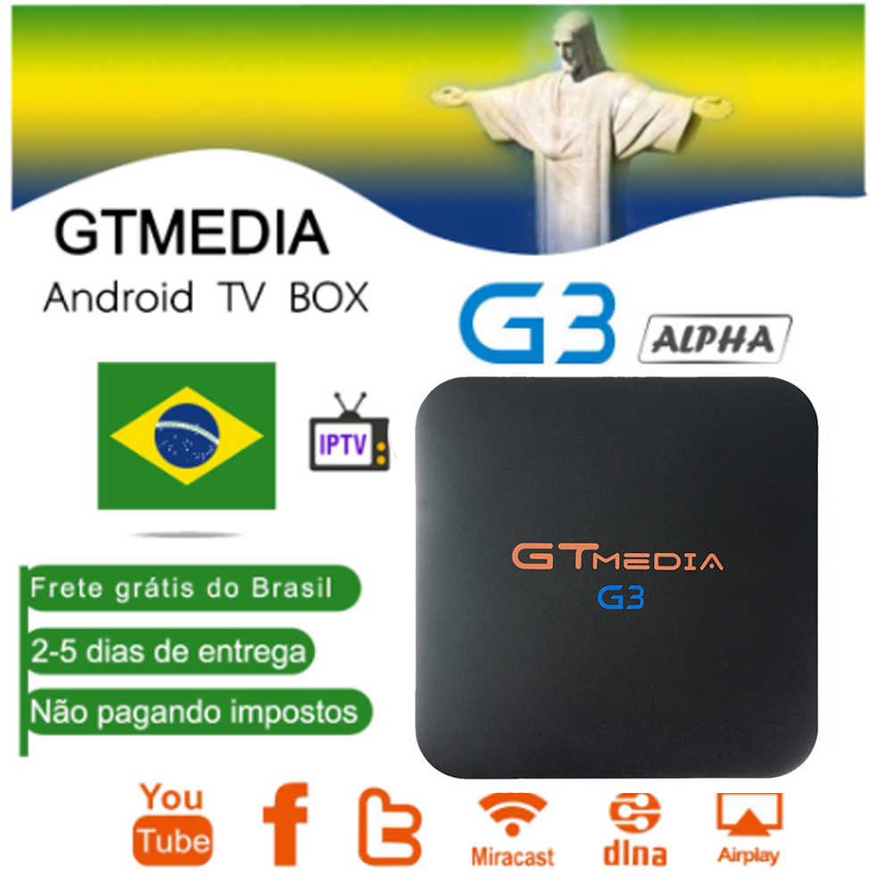 Brazilië Gtmedia G3 Android 7.1 Smart Tv Box Media Player 2Gb 16Gb Afstandsbediening 4K Hd H.265 WIFI2.4G Set Top Boxes