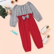 Micol emilly детская одежда Полосатый лоскутный Детский комбинезон