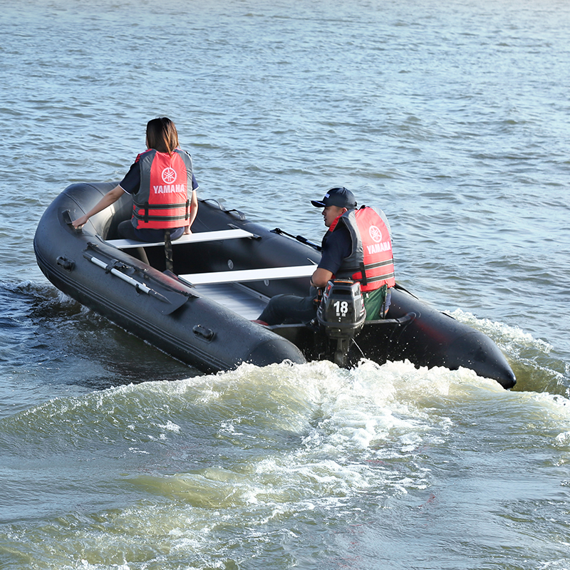 Black 1.6mm Thicken Inflatable Boat With Aluminum Alloy Bottom Rubber Boat Kayak Fishing Boat Hovercraft Assault Boat