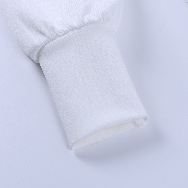 long sleeve white dress19